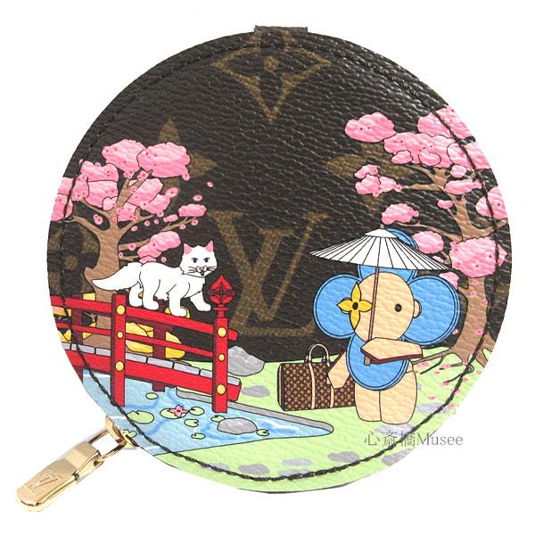 ≪新品≫ルイヴィトン モノグラム ポルトモネ ロン ヴィヴィエンヌ JAPAN M80864 財布 LOUIS VUITTON MONOGRAM 丸型 コインケース 日本 ネコ 2021年ホリデイシーズン 限定 日本 ヴィトン ビトン