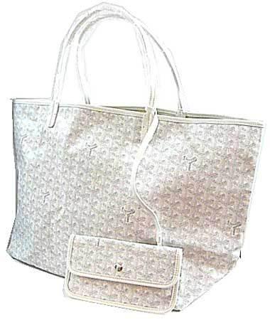 新品GOYARDの紙袋・リボンのラッピングゴヤールサンルイGM白ホワイト