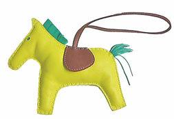 エルメスロデオ「GRIGRIRODEO」馬革チャームGMライム×ミント