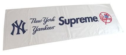 新品アメリカ購入シュプリームSupreme×NYYankeesヤンキースタオル赤袋付き