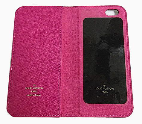 ≪送料無料≫箱のラッピングルイヴィトン「iphone6・フォリオ」モノグラム×ピンク二つ折り携帯ケースアクセサリーモバイルM61628