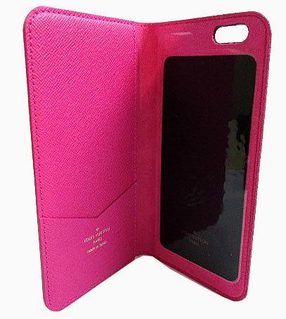≪送料無料≫箱のラッピングルイヴィトン「iphone6+・フォリオ」モノグラム×ピンク二つ折り携帯ケースアクセサリーモバイルM61634