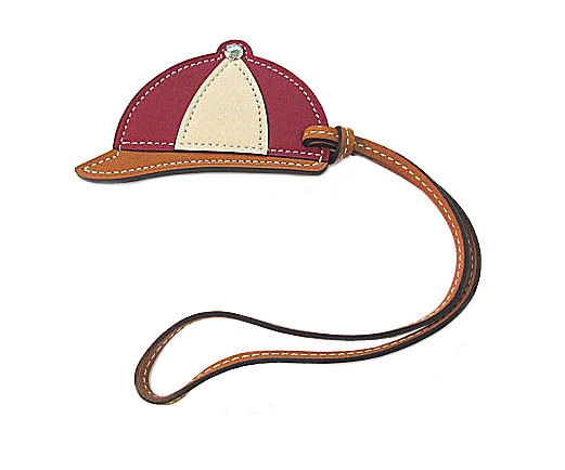 ≪送料無料≫新品HERMES2016年新作チャーム「パドックボンベイ」帽子オレンジナチュラル