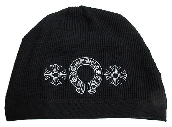 正規品新品2016AWクロムハーツクロスボールニット帽黒ブラックショッパー付