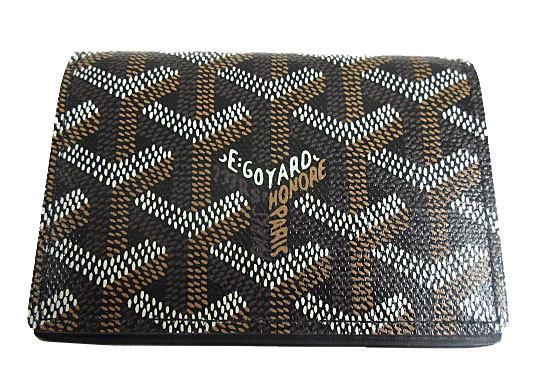 ≪新品≫正規品GOYARDゴヤールカード・名刺ケースマルゼルブ黒ブラック箱・リボンのラッピング