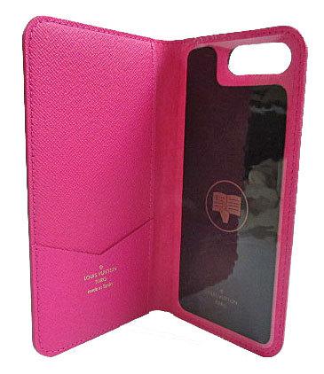 新品 ルイヴィトン iphone8+・フォリオ(7+にも対応) モノグラム×ピンク 二つ折り 携帯ケース アクセサリー モバイル M63401 LOUISVUITTON ビトン 新品・LV箱でのラッピング