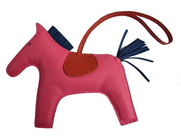 ≪新品≫ エルメス ロデオ 「GRIGRI RODEO」 馬 革 チャーム GM ローズアザレ×ブルードマルト×ポルナリン