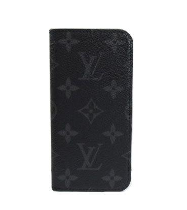 ≪新品≫箱のラッピングルイヴィトン「iphone7・フォリオ」モノグラム・エクリプス二つ折り携帯ケースアクセサリーモバイルM62640