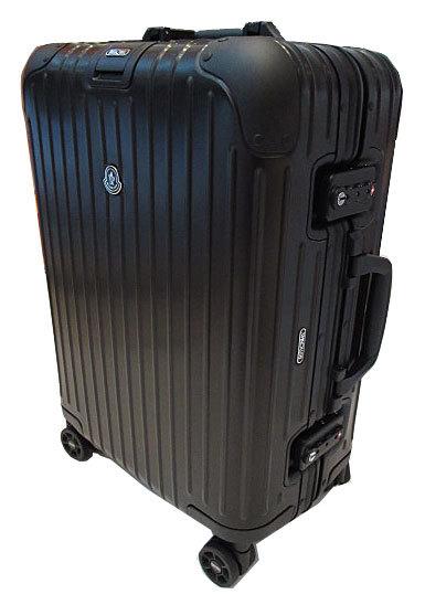 モンクレール×リモワMONCLERRIMOWA2017年コラボ限定スーツケースキャビントロリーTopasStealth53アルミニウム34L小(S)