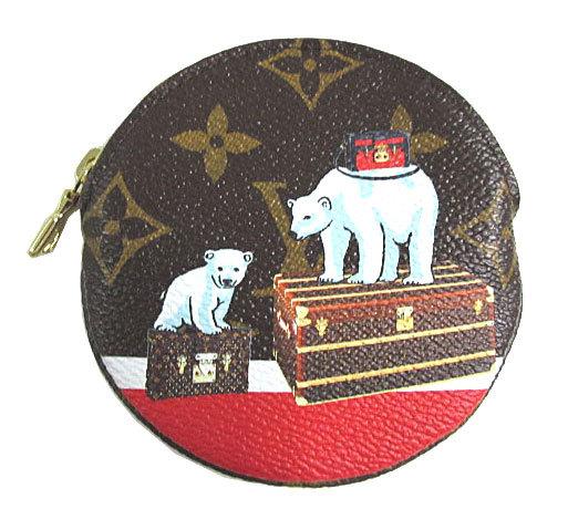 ≪新品≫最新作ルイヴィトン2017年秋冬モノグラム「ポルト・モネ・ロン」コインケースクマ北極熊M62088限定!財布