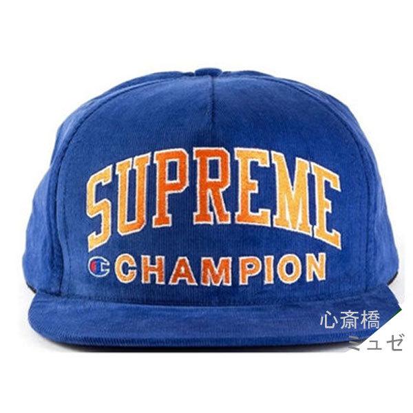新品SUPREME/Champion5-PanelBlackシュプリームチャンピオンキャップ黒