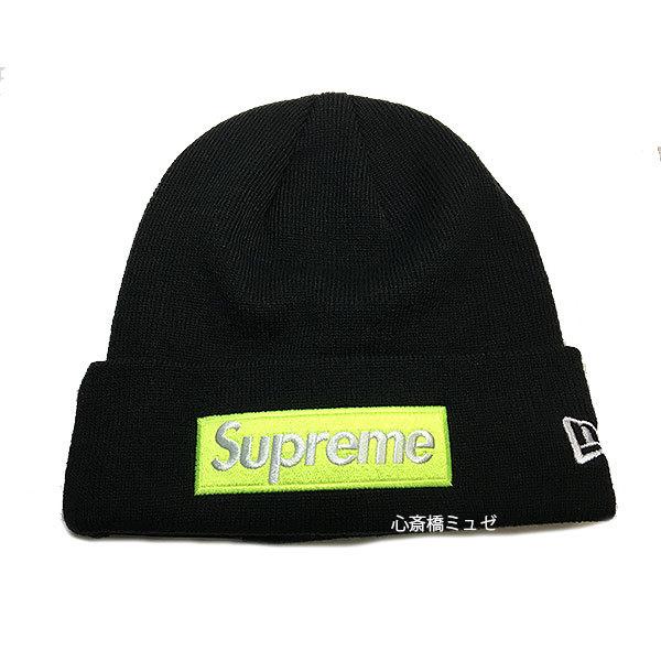 ≪新品≫Supreme17FWSupremeNewEraBoxLogoBeanieBlackシュプリームニュエラニット帽