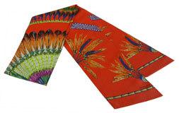 ≪新品≫HERMESエルメスマキシツイリーブラジルBRAZIL赤系スカーフ箱リボンのラッピング