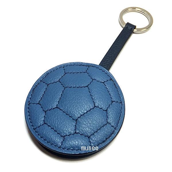 ≪新品≫エルメスキーリングチャームhootballサッカーボールフットボールブルーアズール/ブルードマルトHERMESメンズ