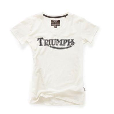 トライアンフレディースTシャツ:LDS VINTAGE LOGO IVORY T-Shirt