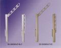 新協和 バルコニー物干金物(スライド収納型)SK-550ESLP 1セット2本入 ステンカラー シルバー