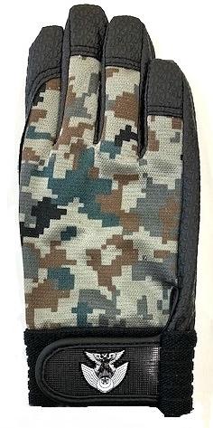 自衛隊グッズ 航空自衛隊・徽章付 デジタル迷彩手袋