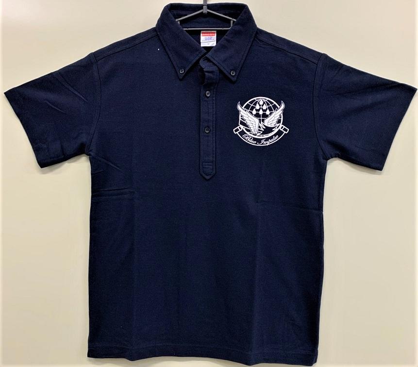 自衛隊グッズ   メンズポロシャツ ブルーインパルス ボタンダウン T/C鹿の子