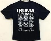 自衛隊グッズ メンズTシャツ IRUMA AIR BASE 入間基地部隊マークTシャツ 速乾タイプ