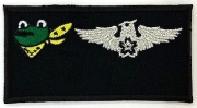 自衛隊グッズ 301飛行隊 ウイングマーク カエルネーム 刺繍、マジック加工付