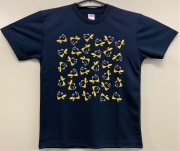自衛隊グッズ メンズTシャツ カエルいっぱい301Tシャツ(百里基地) 速乾タイプ