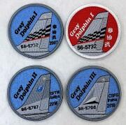 自衛隊グッズ T-4尾翼シリーズ スペシャルマーキング Gray Dolphin ワッペン 4種 ベルクロ付き
