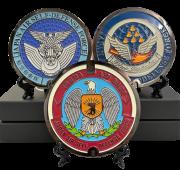 自衛隊グッズ リアルご当地マンホール(ミニ) 航空自衛隊徽章/入間基地/松島基地の3種