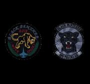 自衛隊グッズ 築城基地 第8飛行隊 ブラックパンサー ワッペン マジック付き