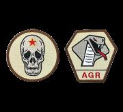 自衛隊グッズ アグレッサー  デザート色ワッペン ドクロとコブラの2種 マジック両面付