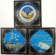 自衛隊グッズ メタルアートシール(新彫金)ブルーインパルス 丸型3種