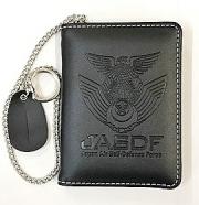 自衛隊グッズ 航空自衛隊刻印 IDカードケース2つ折り横開きタイプ