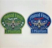 自衛隊グッズ  ファントムファイナル Farewell J phantomワッペン マジック付き 2色