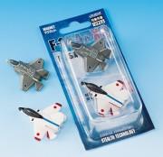 自衛隊グッズ 戦闘機マグネットセット ATD-Xの2機セットとF-35A・X-2(ATD-X)2機セット