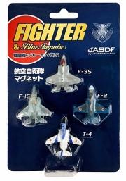 自衛隊グッズ マグネット セット T-4・F-2・F-15・F-35 4機セット