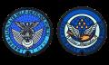 自衛隊グッズ ご当地マンホールラバープレート防衛省 航空自衛隊徽章 / 航空自衛隊 松島基地 2種