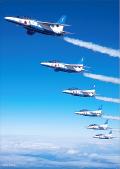 自衛隊グッズ ブルーインパルス NEW クリアファイル2枚組  その1(翔)