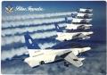 自衛隊グッズ B5判ブルーインパルス展示飛行課目下敷き