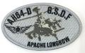 自衛隊グッズ AH64-Dアパッチロングボウヘリ ワッペンマジック付