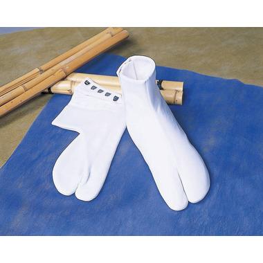 【福助足袋 白足袋】 ナイロンたび裏付 5枚コハゼ (冬用) 5足セット
