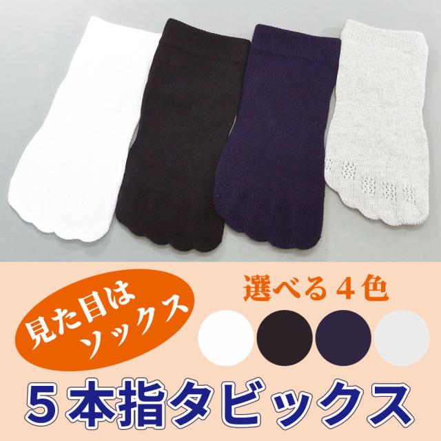 5本指タビックス 2足セット 【靴下足袋 男性用 年間用】