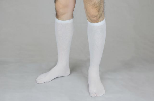 【靴下足袋】薄地タビックス ひざ下タイプ 白(年間用) 2足セット