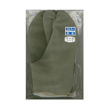 【色足袋】 草木染め綿紬たび 蓬色 4枚コハゼ(年間用)