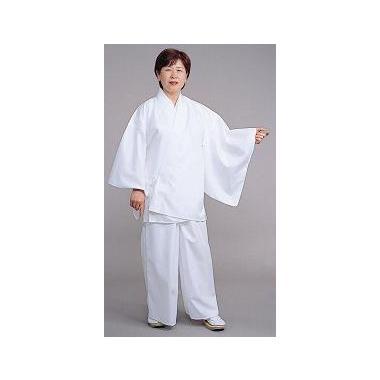 【寺院用白衣 女性用 二部式】麻混二部式 寺院用白衣 上衣 (夏用)