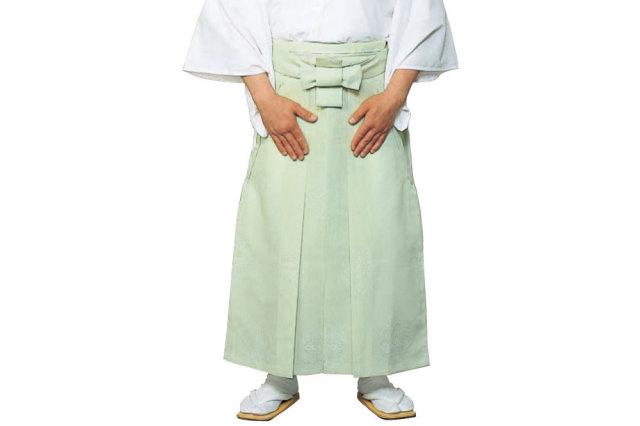 【袴 寺院用】お誂え 御寺院袴 八藤紋入り(浅葱)