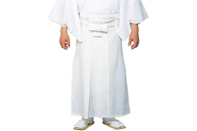 【袴 寺院用】お誂え 御寺院袴 八藤紋入り(白)