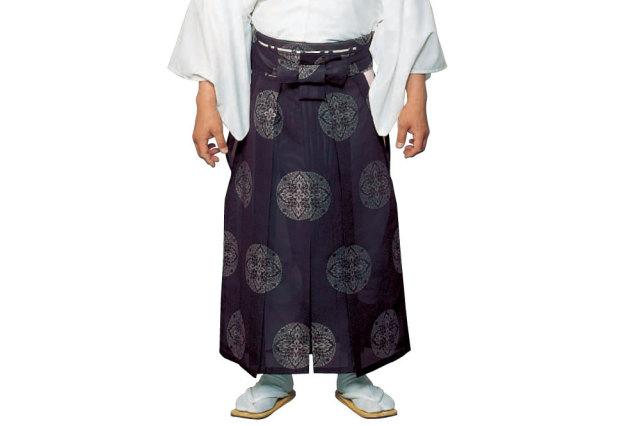 【袴 寺院用】お誂え 御寺院袴 八藤紋入り(紫)