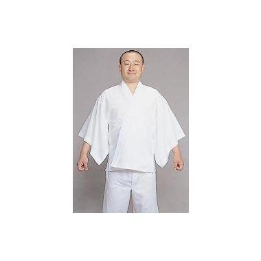 紐付き【半襦袢 男性用 寺院用 神職用】 セオアルファー襦袢 広袖 手縫掛衿 普通丈 (年間用)