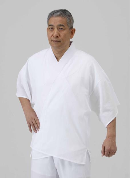 【半襦袢 男性用 寺院用 神職用】 さらし襦袢 筒袖 普通丈 (半衿なし) (年間用) 2枚セット