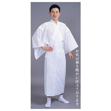 【神職用白衣 男性用】綿混薄地白衣(夏用)