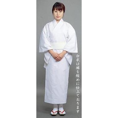 【寺院用 神職用 白衣 女性用】東レテトレックス厚地 白衣 裾短め(追丈仕様・冬用)